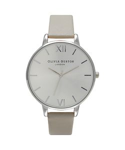 Olivia Burton | Womens Big Dial Leather Strap Watch