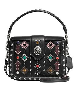 Coach   Page Western Rivets Leather Across Body Bag
