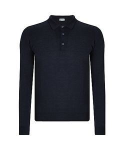 John Smedley | Belper Merino Long Sleeve Polo Shirt Hepburn Smoke