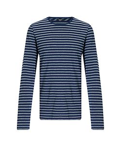Denham | Signature Crew Long Sleeve Stripe T-Shirt One Year