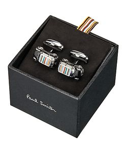 Paul Smith | 3d Signature Stripe Roof Mini Car Cufflinks /Multi