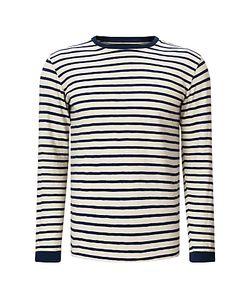 Edwin | Tokyo S Long Sleeve Stripe T-Shirt Off Navy