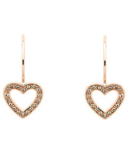 Melissa Odabash | Swarovski Crystal Hook Heart Drop Earrings