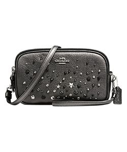 Coach | Star Rivets Leather Across Body Clutch Bag