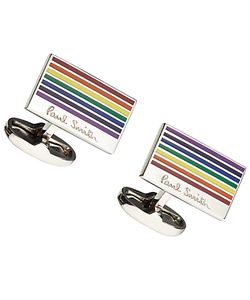 Paul Smith | Rainbow Stripe Cufflinks Multi