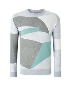 John Smedley | Compose Intarsia Knit Jumper Feather