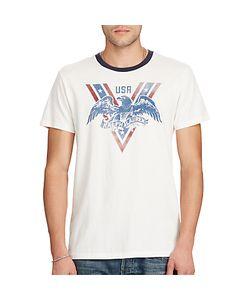 Ralph Lauren | Denim Supply Usa Eagle Print Ringer T-Shirt Antique