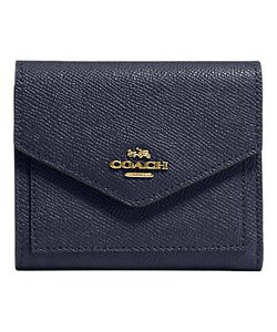 Coach | Crossgrain Leather Small Purse Navy