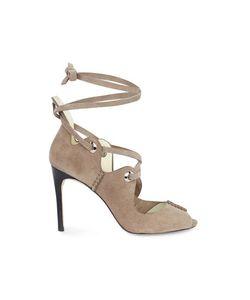Karen Millen | Suede Lace-Up Sandals