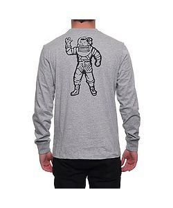 Billionaire Boys Club | The Stacked Logo Ls Tee In Heather Gray
