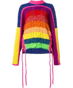 Spencer Vladimir | Long Sleeve Rainbow Sweater With Side Ties