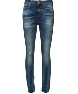 R13   Mid Rise Skinny Jeans