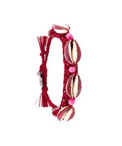 Venessa Arizaga | Shell We Dance Bracelet Red