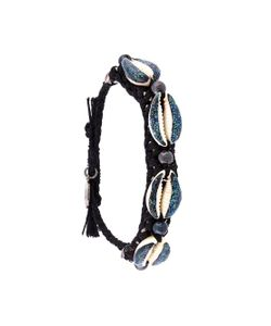 Venessa Arizaga | Shell We Dance Bracelet Black Blue