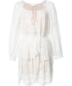 Zimmermann | Long Sleeve Tiered Lace Dress