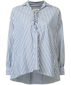 Nili Lotan | Striped Shiloh V-Neck Shirt