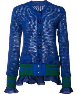 Sacai | Fringed Knit Cardigan