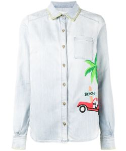 Mira Mikati | Embroidered Denim Shirt