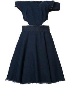Natasha Zinko   Strapless Denim Cutout Dress