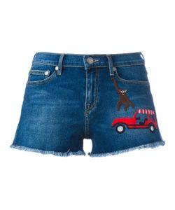 Mira Mikati | Embroidered Patch Denim Shorts