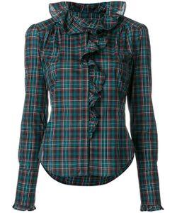Faith Connexion   Frill Trim Plaid Shirt