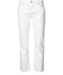 Nili Lotan | Frayed Hem Cropped Jeans