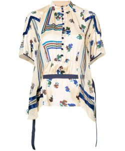 Sacai   Striped Belted Top