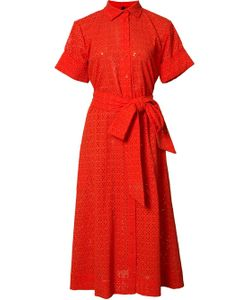 Lisa Marie Fernandez | Eyelet Belted Shirt Dress