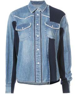 Sacai   Panelled Denim Shirt Jacket