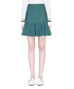 Victoria, Victoria Beckham | Virgin Wool Blend Flounce Skirt