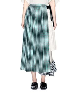 TOGA ARCHIVES | Gingham Check Pleated Wrap Skirt