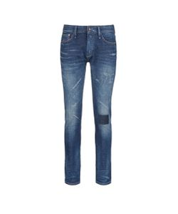 Denham | Razor Patchwork Distressed Slim Fit Jeans