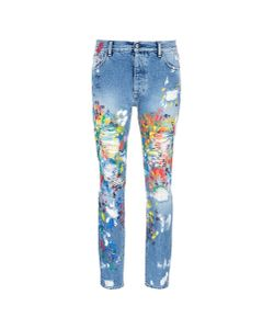 Palm Angels | Splatter Paint Distressed Jeans