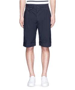 Wooster + Lardini | Pleated Poplin Bermuda Shorts