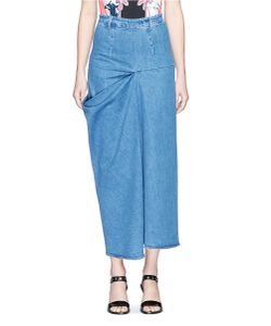 Stella McCartney | Heidi Draped Side Denim Maxi Skirt
