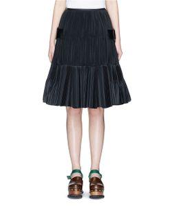 TOGA ARCHIVES | Belted Side Plissé Pleated Taffeta Skirt