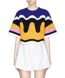 Emilio Pucci | Bonded Wavy Stripe Cropped T-Shirt