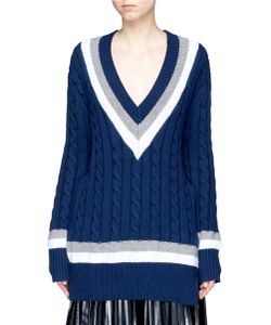 Public School | Cora Stripe Chunky Cable Knit Sweater