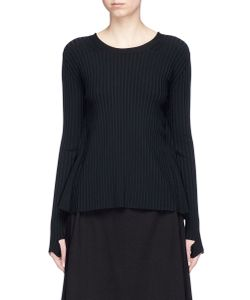 Helmut Lang | Technical Rib Knit Tie Open Back Sweater