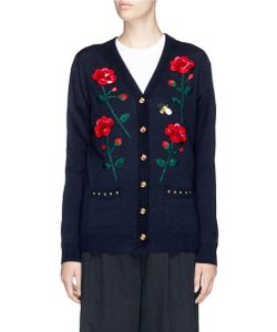 Muveil | Rose And Bee Paillette Embellished Cardigan