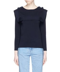 Chloé | Engraved Button Sailor Sweater