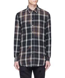 Amiri | Spray Check Plaid Flannel Shirt