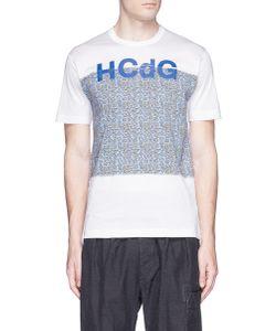Comme Des Garçons Homme Plus | Paisley Logo Print T-Shirt