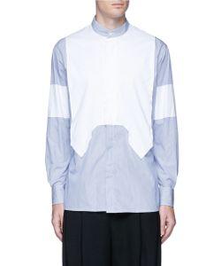 Ports | Geometric Contrast Front Stripe Shirt
