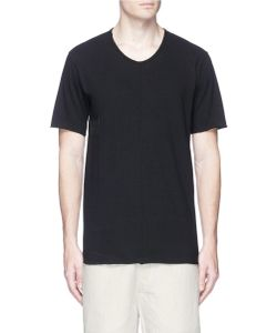 Ziggy Chen | Number Patch Raw Edge T-Shirt