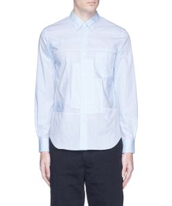 Comme Des Garçons Homme Plus   Stripe Patchwork Poplin Shirt