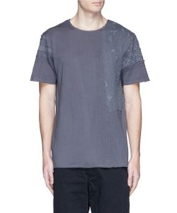 By Walid | Lace Panel T-Shirt