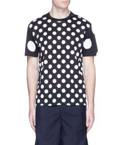 Comme Des Garçons Homme Plus   Polka Dot Cotton T-Shirt