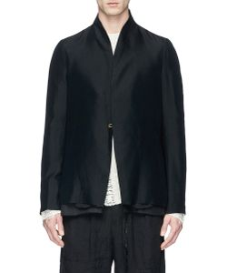 Song For The Mute | Raised Collar Raw Hem Jacket