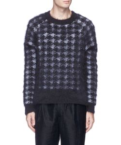 Haider Ackermann | Houndstooth Jacquard Brushed Sweater